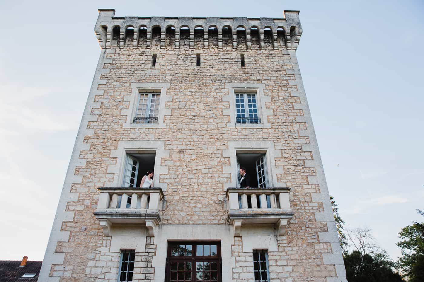 Chateau de la Couronne Wedding Photography - Balcony