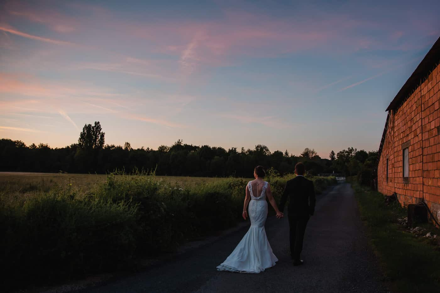 Chateau de la Couronne Wedding Photography - Couple at Sunset