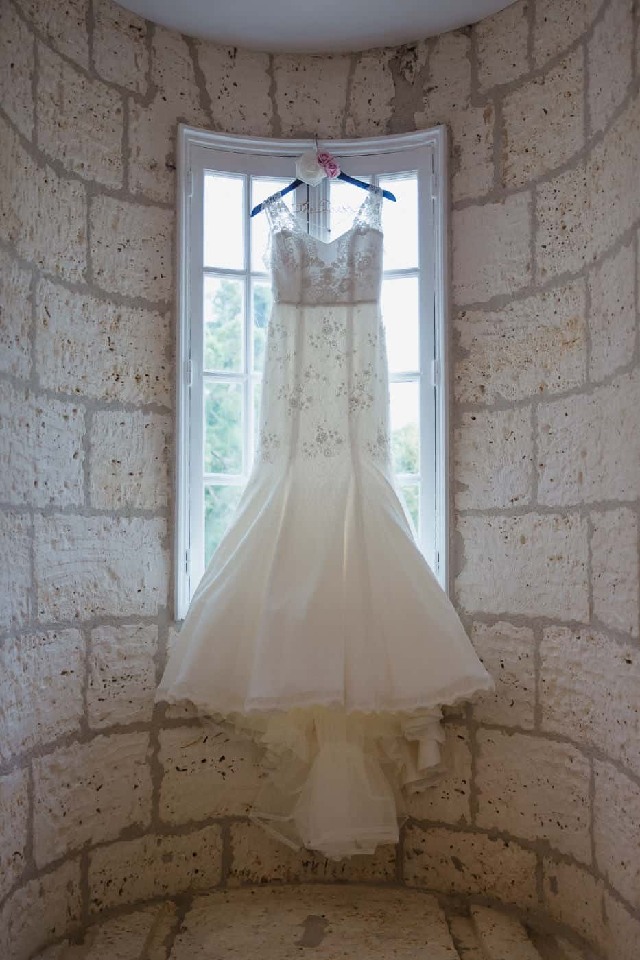 Chateau de la Couronne Wedding Photography - Brides dress