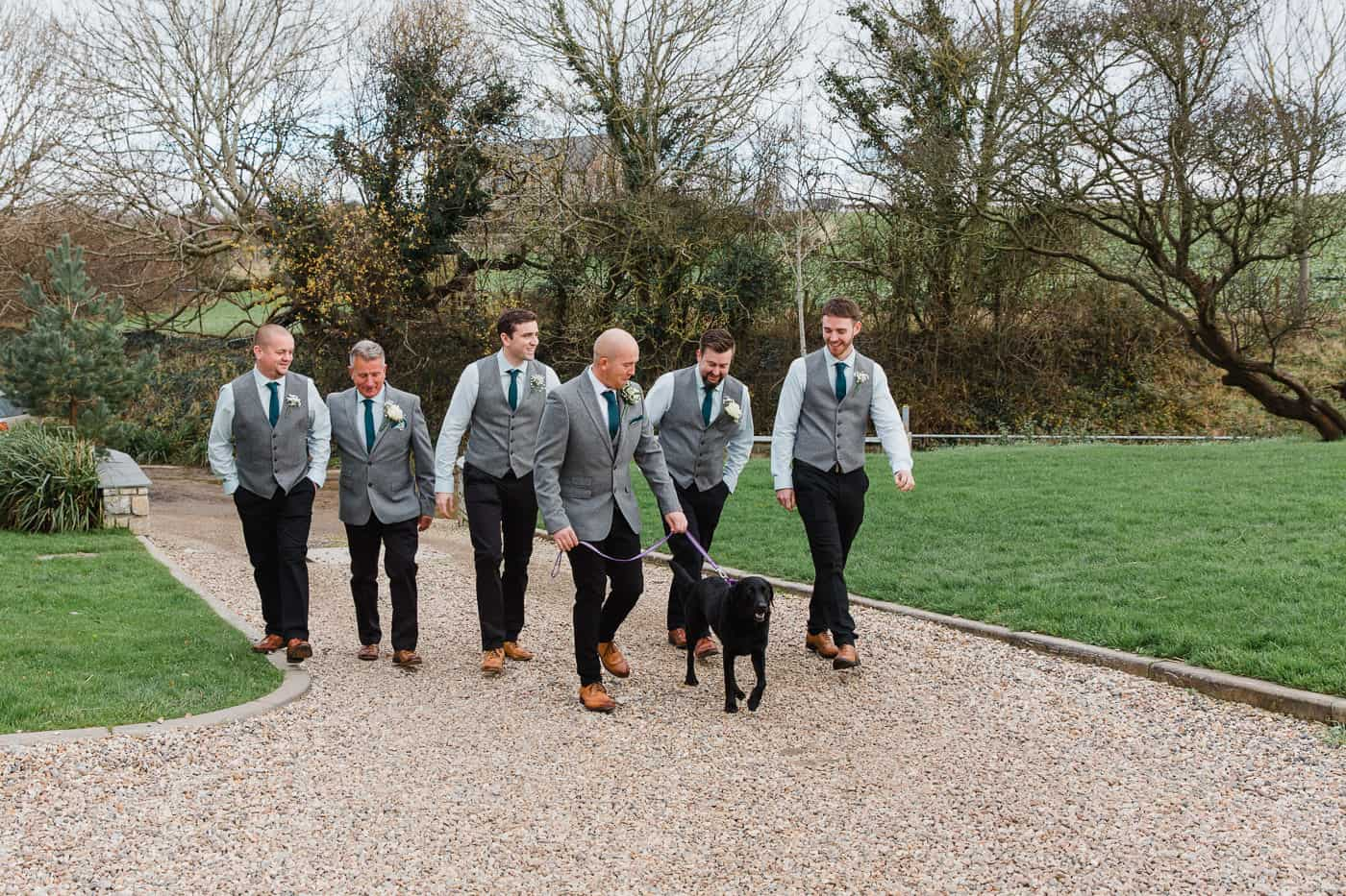 Rosedew Farm Wedding groomsmen