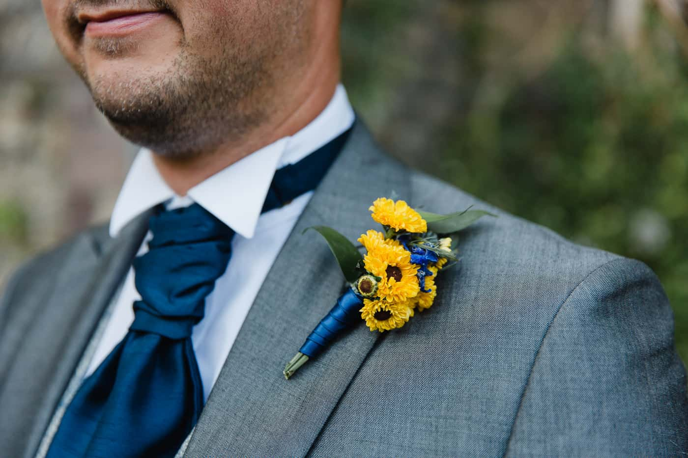 South Wales Wedding Photographer Groom Buttonhole