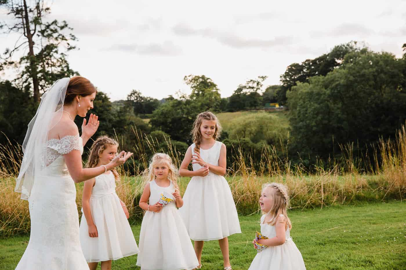South Wales Wedding flowergirls