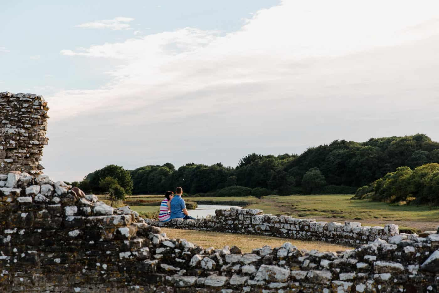 Ogmore-Castle-Couples-Session-Castle Wall