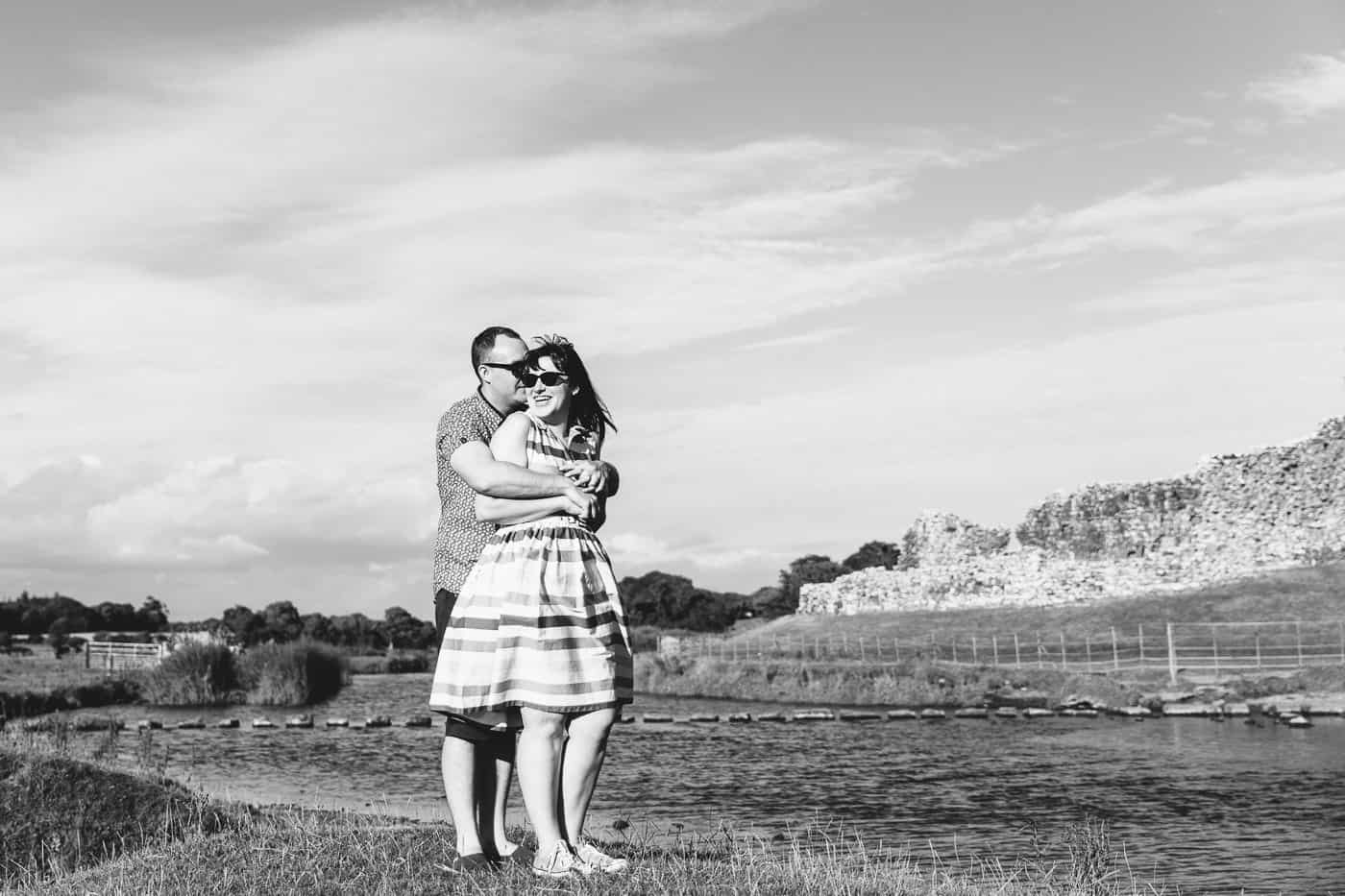 Ogmore-Castle-Couples-Session-black-and-white