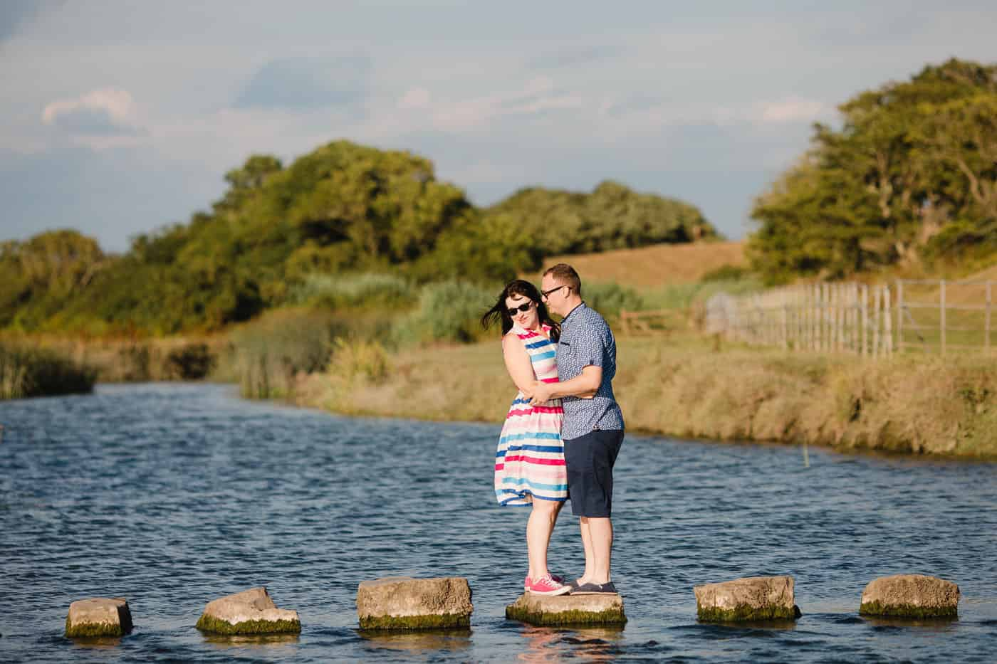 Ogmore-Castle-Couples-Session-Stepping Stones