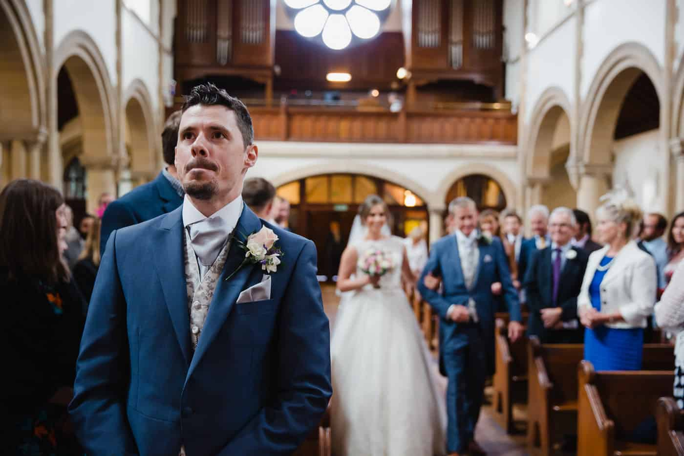 Penarth Wedding Photography walking down the aisle