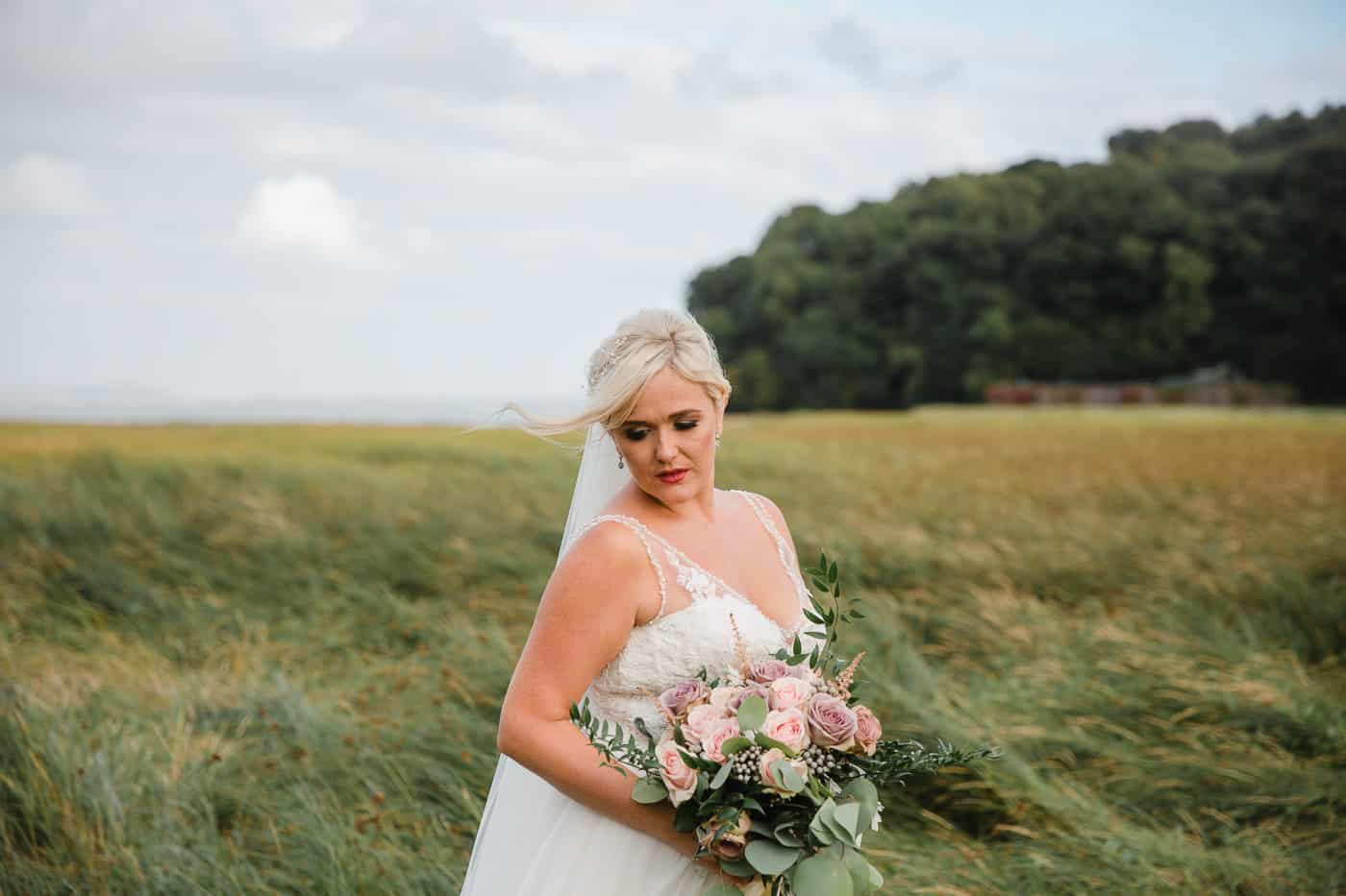 Laugharne Wedding Photography - Bridal Portrait