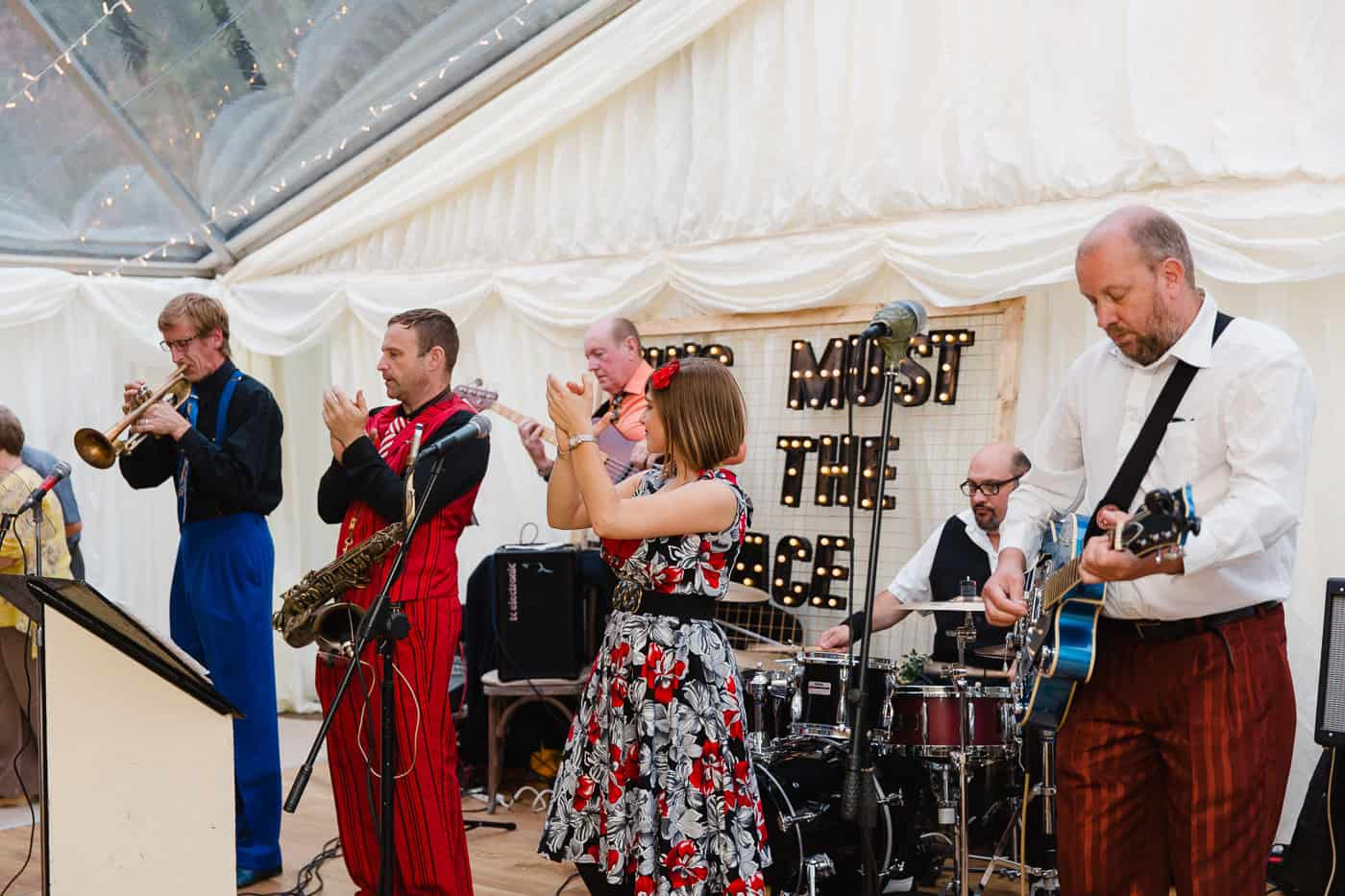 Wedding Band at Derwydd Mansion