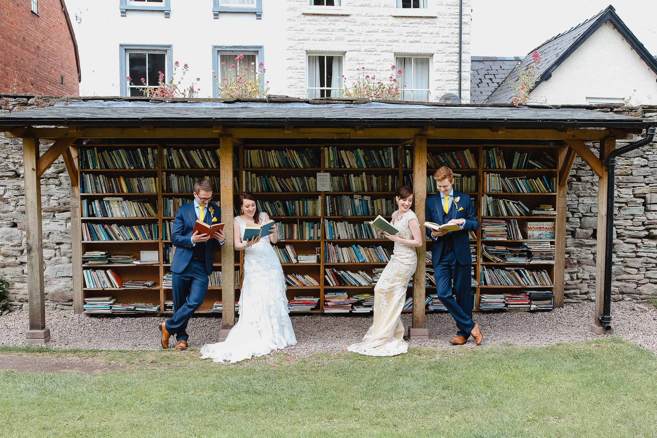 book themed wedding photography