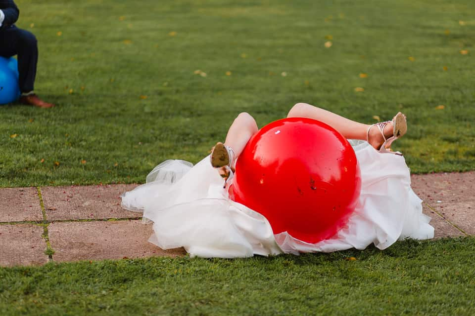 space hopper at wedding