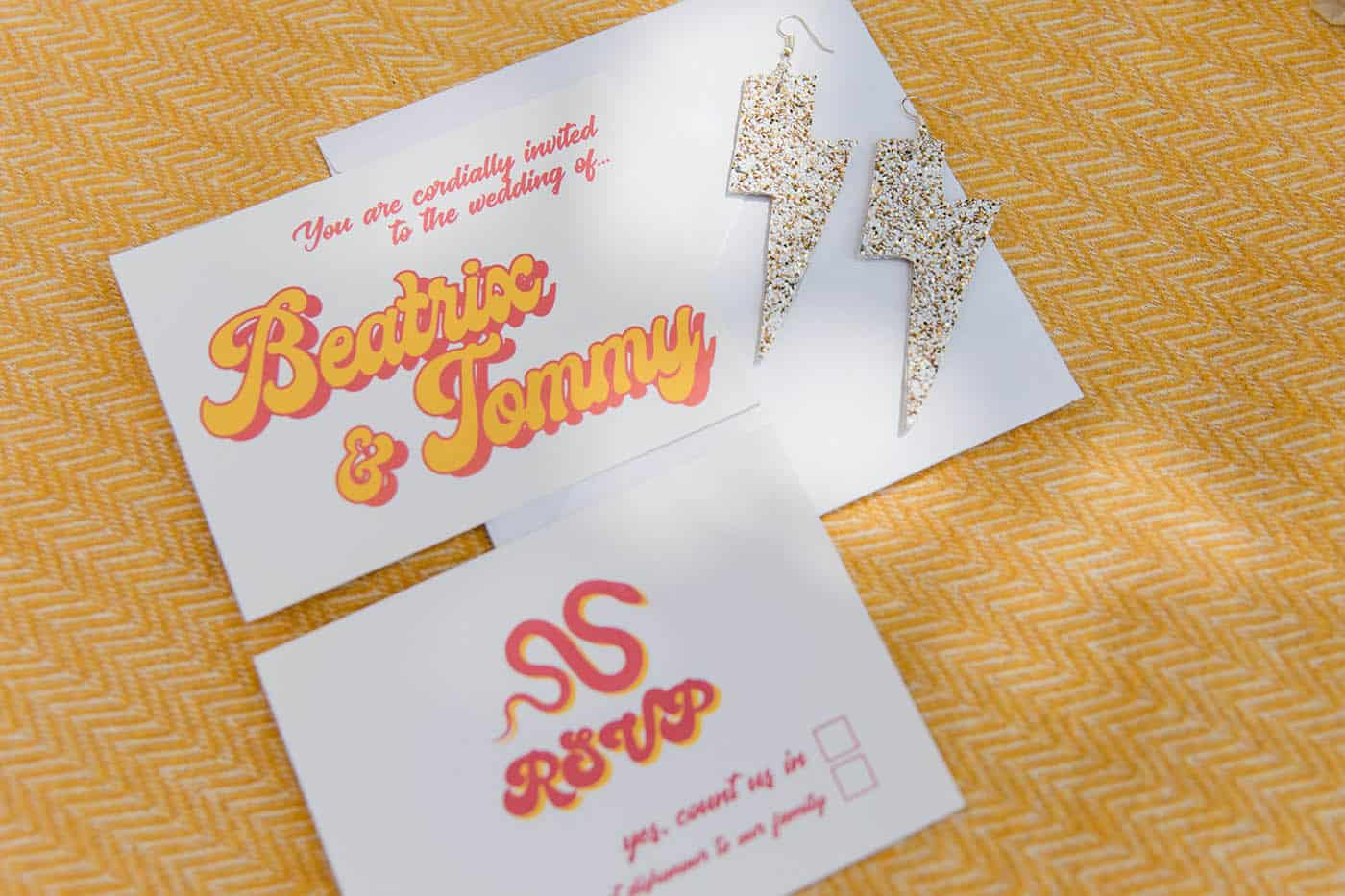 tarantino wedding invite ideas