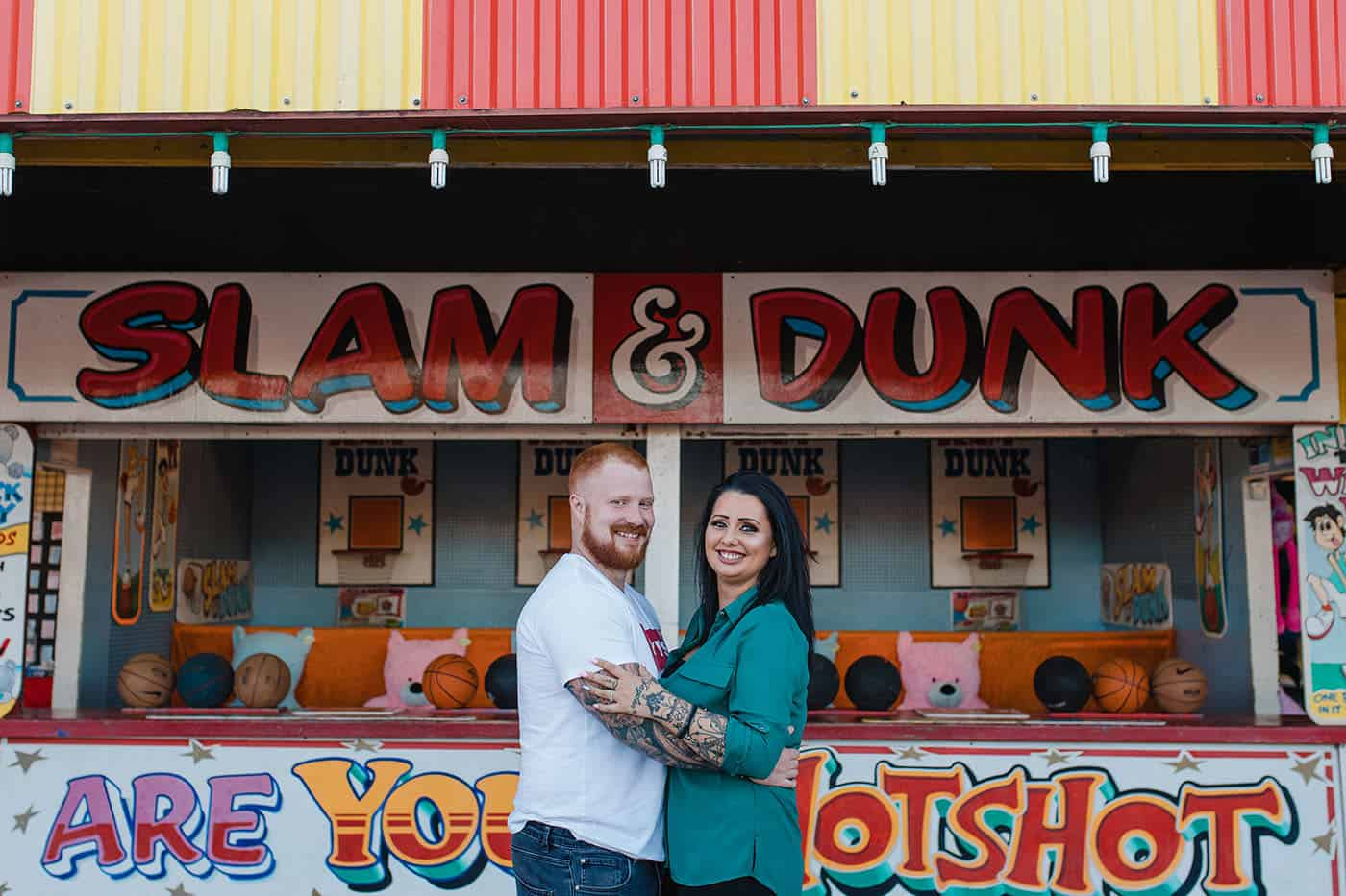 creative pre wedding photoshoot fairground