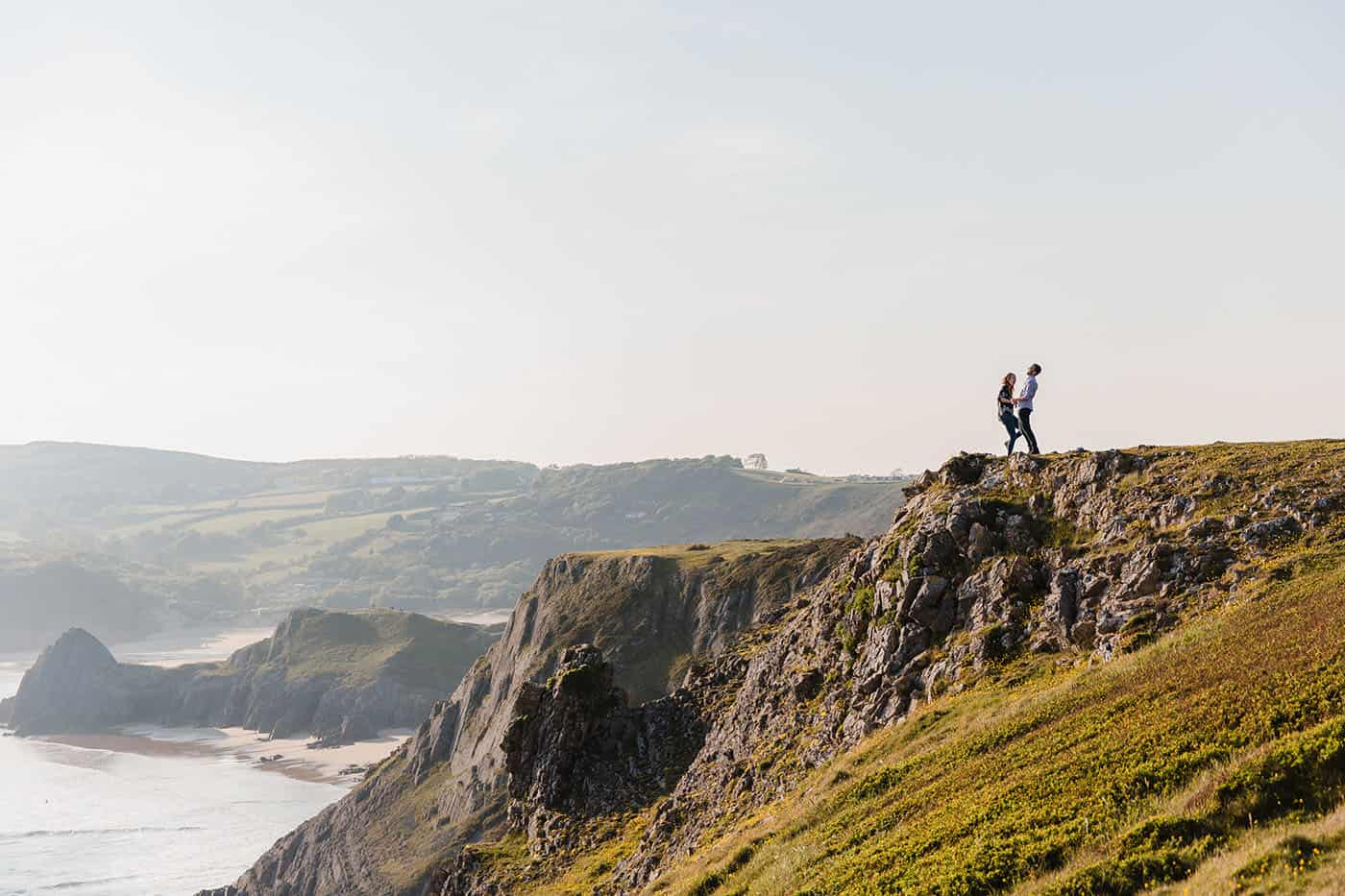 clifftop pre-wedding session